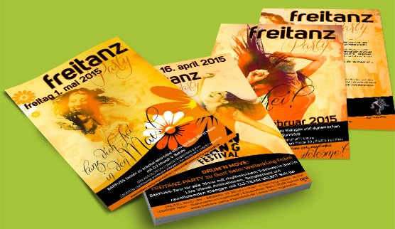 goltman web&design: Flyer Freitanz-Party Ingolstadt