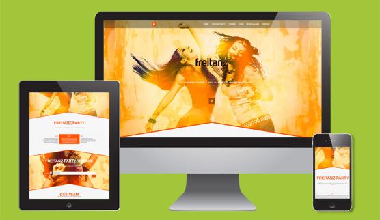 goltman web&design: Internetauftritt Freitanz-Party Ingolstadt