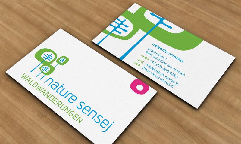 Visitenkarten Design Für Nature Sensej Goltman Web Design