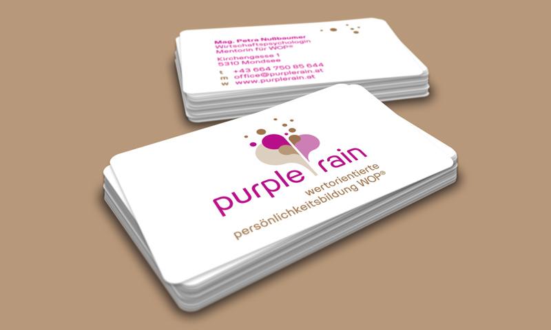 Visitenkarten Für Purple Rain Goltman Web Design