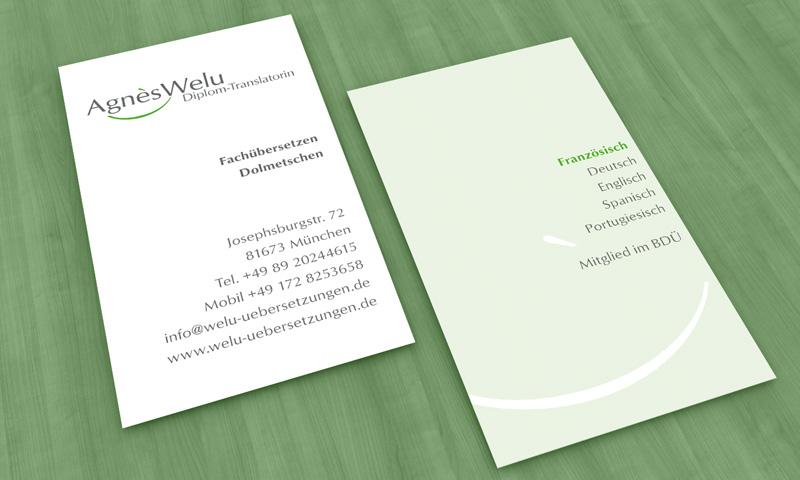 Goltman Web Design Visitenkarten Für Welu übersetzungen